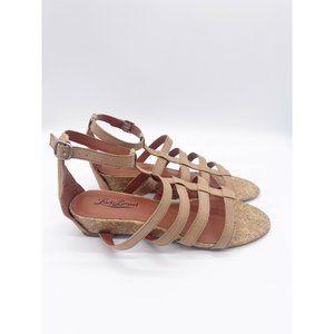 Lucky Brand Tan Cork LP- Lanser Sandals Size 7.5 N